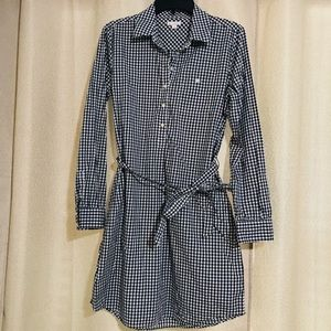 GAP Women's Black/White Buttoned Tie Dress S
